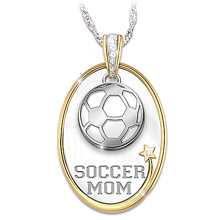 #1 Fan Personalized Sports Star Mom Pendant Necklace