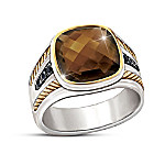 Single Malt Men's Smoky Quartz Gemstone Ring