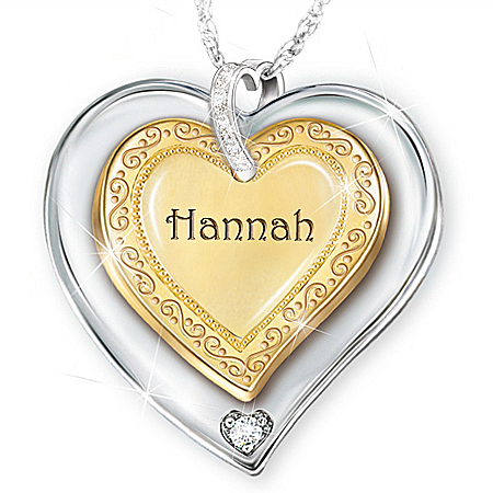 A Granddaughter Is Forever Heart-Shaped Personalized Pendant Necklace – Personalized Jewelry