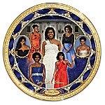 Michelle Obama First Lady Of Fashion Heirloom Porcelain Collector Plate