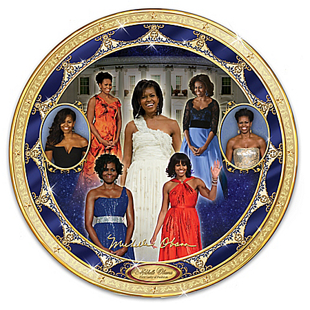 Michelle Obama Porcelain Collector Plate From Bradford Exchange: 1 of 5000