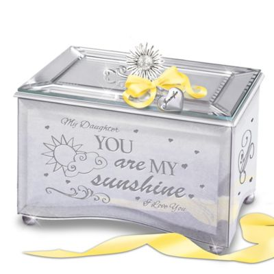 Bradford Exchange Daughter, You Are My Sunshine Personalized Mirrored