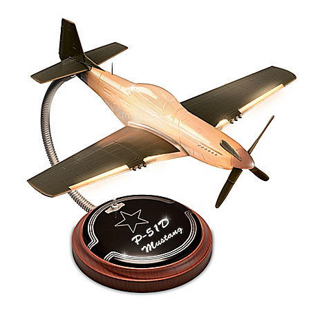 P-51D Mustang WWII Fighter Plane Illuminated Accent Lamp