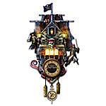 Disney Pirates Of The Caribbean Illuminated Cuckoo Clock