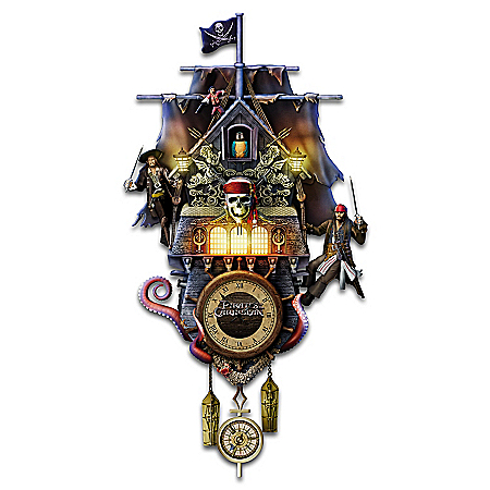 Disney Pirates Of The Caribbean Illuminated Cuckoo Clock