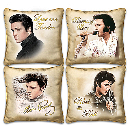 Elvis Presley Golden Moments Four Square Pillow Collection