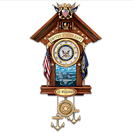 United States Navy Personalized Cuckoo Clock