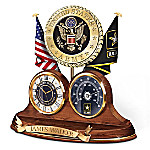 U.S. Army For Home And Country Personalized Thermometer Clock