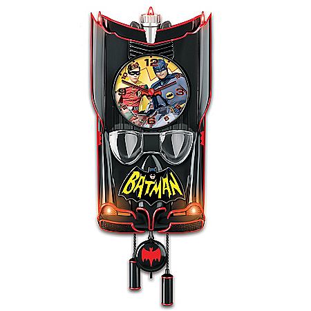 BATMAN Classic TV Series BATMOBILE Cuckoo Clock 125963001