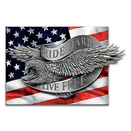 Riding Proud In America Eagle Wall Decor