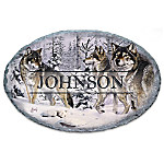 Gathering Of The Pack Personalized Wolf Welcome Sign