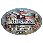 USMC Personalized Outdoor Welcome Sign