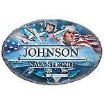 Navy Strong Handcrafted Personalized Welcome Sign