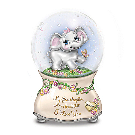 Granddaughter, Never Forget That I Love You Personalized Glitter Globe