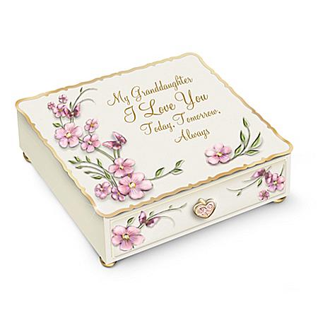 Granddaughter, I Love You Always Music Box