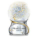 My Daughter, You Are My Shining Star Illuminated Musical Glitter Globe