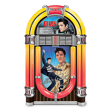 Elvis Rocks Forever! Illuminated Jukebox Music Box
