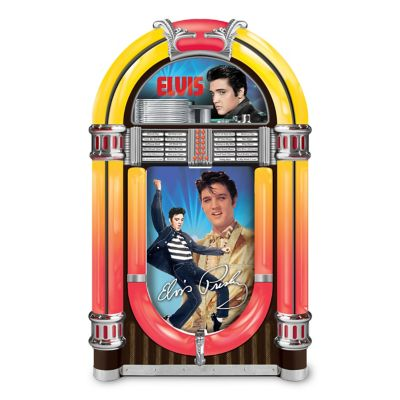 Bradford Exchange Elvis Rocks Forever! Illuminated Jukebox