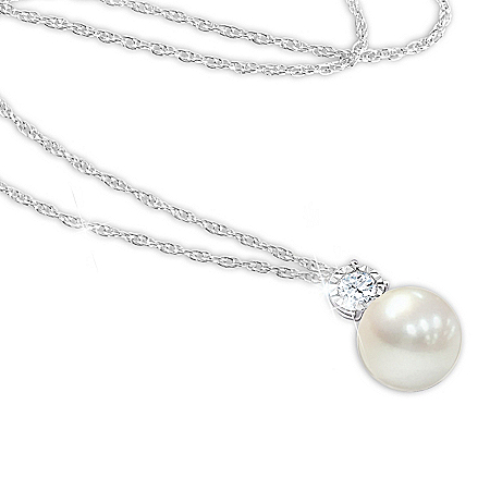Precious Granddaughter Personalized Cultured Pearl Pendant Necklace