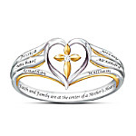 Faith & Family Personalized Diamond Mother's Ring