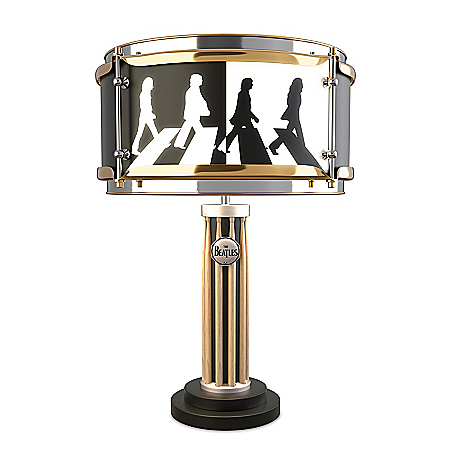 The Beatles Abbey Road Album Drum Table Lamp