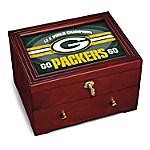 Green Bay Packers Wooden Keepsake Box