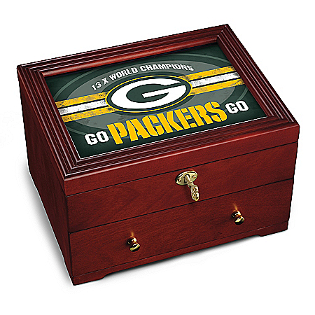 Green Bay Packers Wooden Strongbox