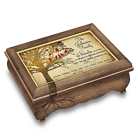 A Family Tree Grows With Love Personalized Heirloom Music Box