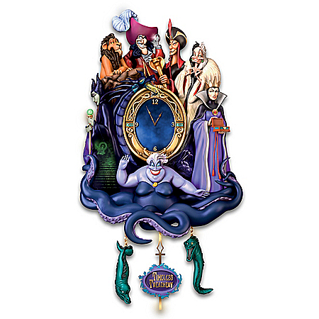 Disney Classic Villains Timeless Treachery Illuminated Cuckoo Clock