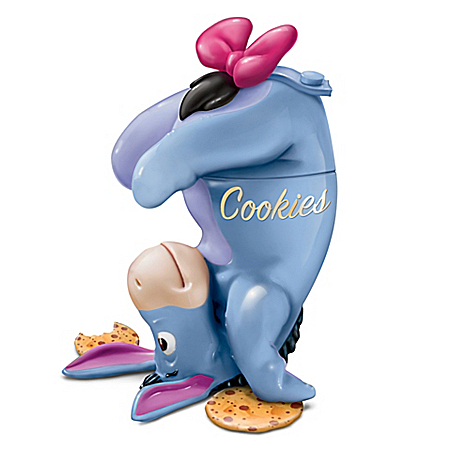 Disney Eeyore Fully Sculptural Stoneware Cookie Jar from The Bradford Exchange