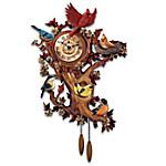 Treetop Chorus Songbird Sculptural Wall Clock