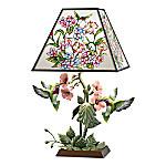 Garden Of Light Stained Glass Hummingbird Lamp