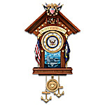 United States Navy Mahogany-Finished Wood Toned Cuckoo Clock