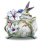 Lena Liu Believe In The Beauty Of Your Dreams Hummingbird Sculpted Heirloom Porcelain Music Box