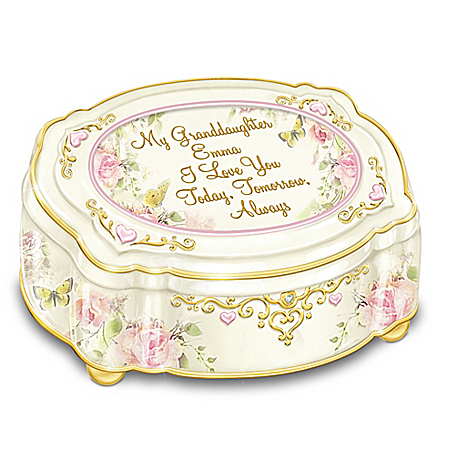My Granddaughter, I Love You Always Personalized Music Box