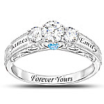 Forever Yours Personalized Birthstone Women's Ring
