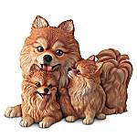 Doggie Kisses Lifelike Dog Sculpture