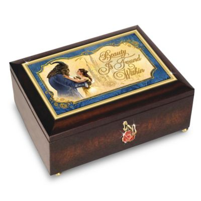 Bradford Exchange Disney Beauty And The Beast With Rose Charm