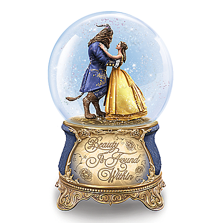 Disney Beauty And The Beast Musical Glitter Globe