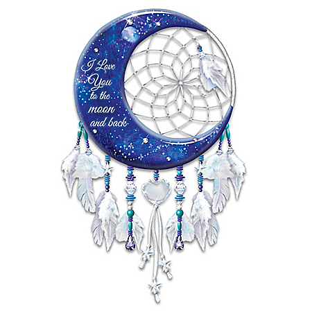 I Love You To The Moon And Back Illuminated Dreamcatcher Wall Decor