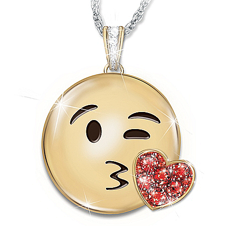 A Message Of Love Personalized Emoji Pendant Necklace