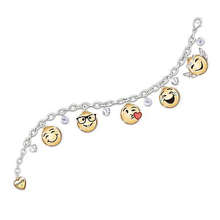 A Message Of Love Granddaughter Emoji Bracelet