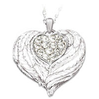 Wings Of Love Daughter Heart Locket Pendant Necklace