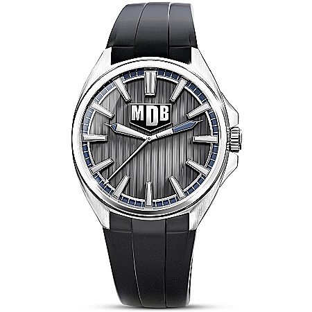 Strength Of My Son Personalized Men's Silver Tone Watch