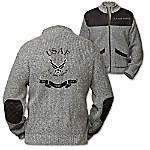 U.S. Air Force Fly, Fight, Win Men's Knit Sweater Jacket