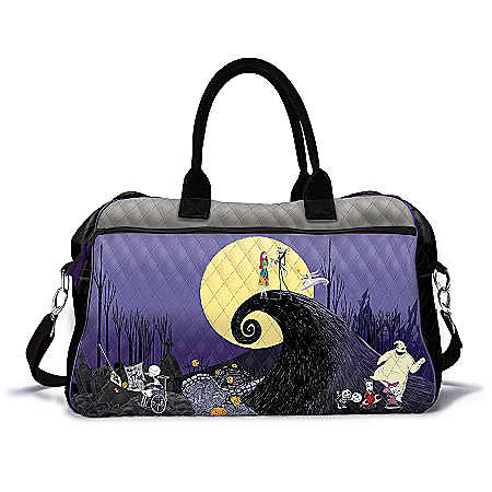 Disney Tim Burton's The Nightmare Before Christmas Quilted Weekender Tote Bag
