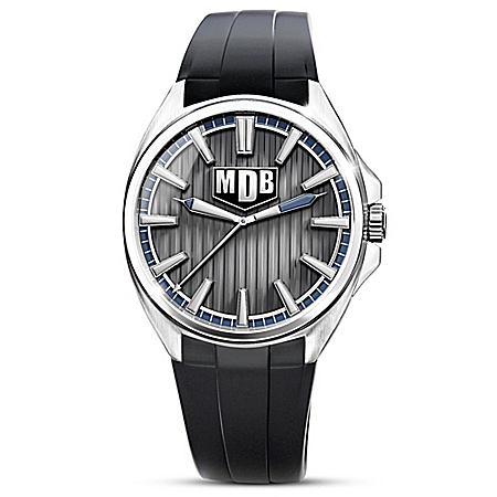 Strength Of My Grandson Personalized Men's Silver Tone Watch