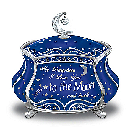 My Daughter, I Love You To The Moon And Back Music Box
