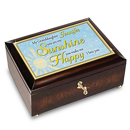 Granddaughter, You Are My Sunshine Personalized Heirloom Music Box