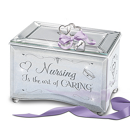 Nursing Is The Art Of Caring Personalized Mirrored Music Box – Graduation Gift Ideas